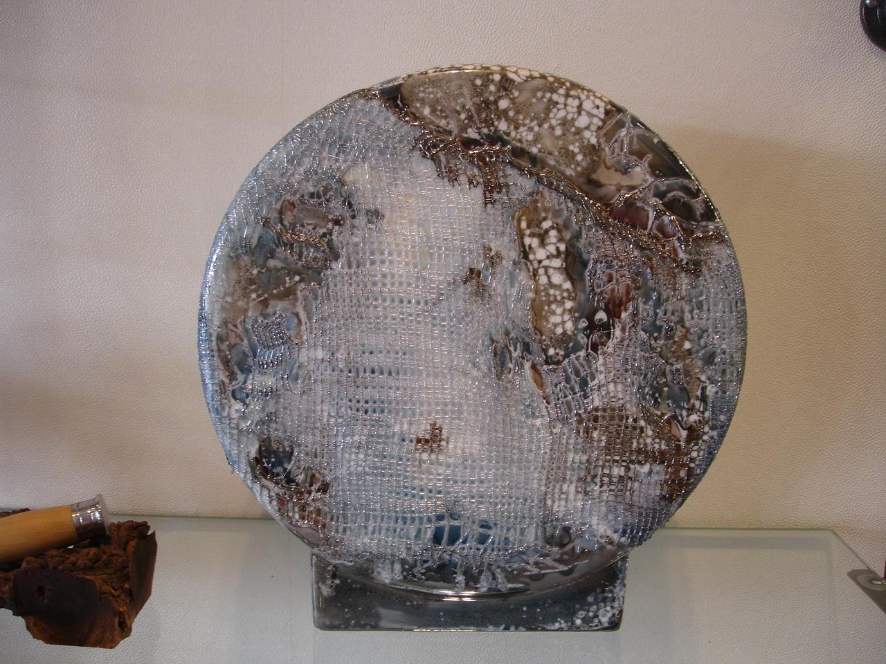 Vase disque et fibre de verre