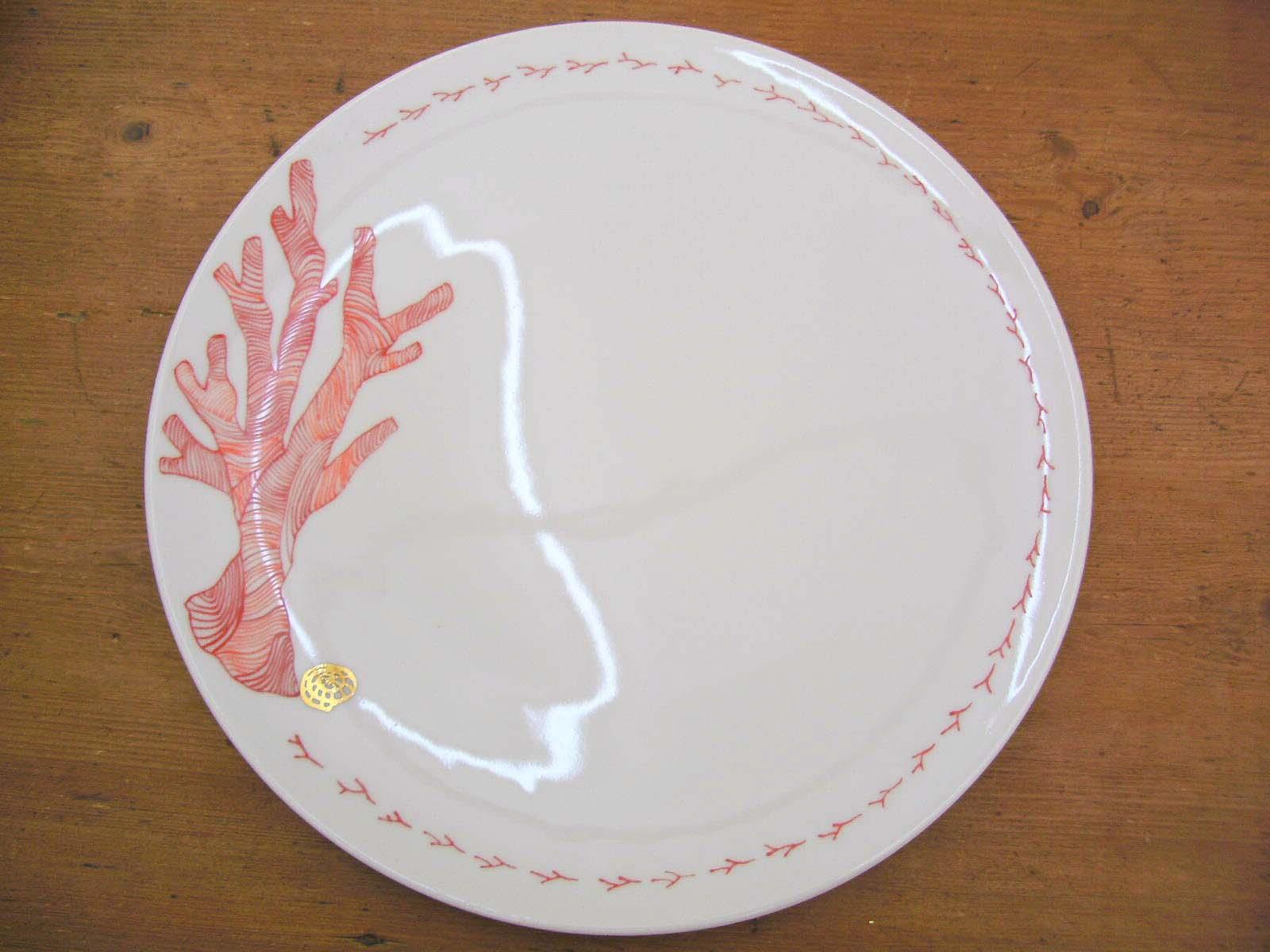 ASSIETTE plate saturne