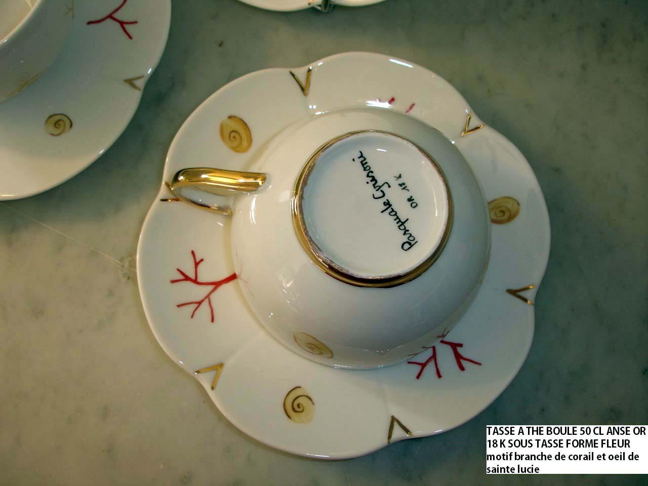 tasse a thé corail rouge