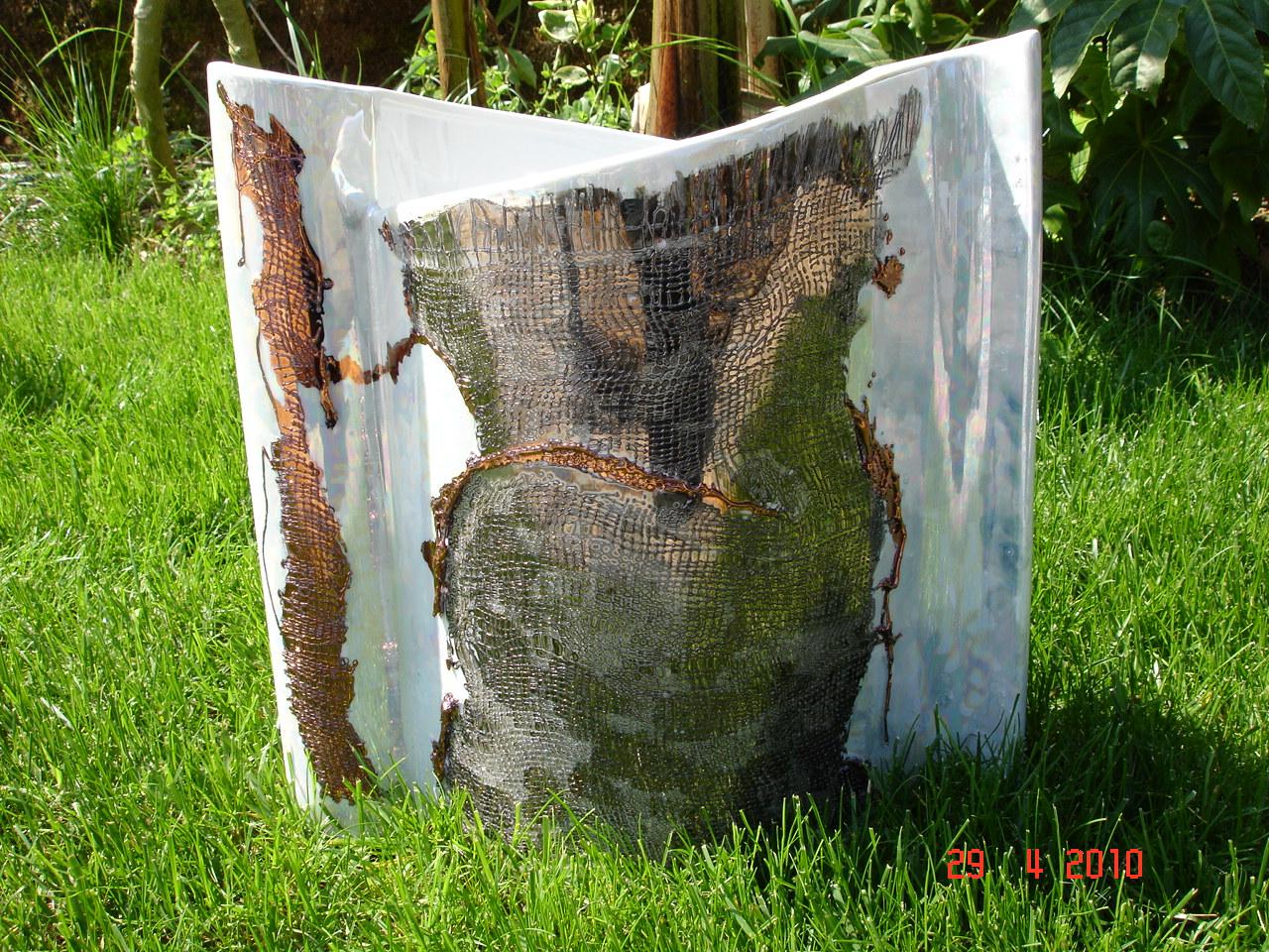 vase drapé fibre de verre