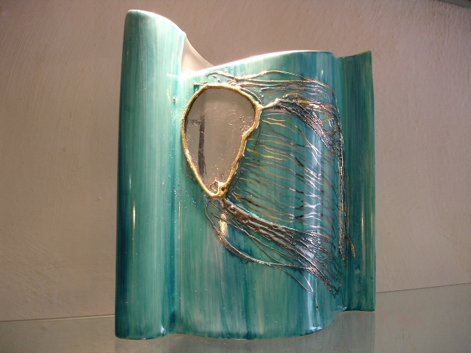 Méduse turquoise