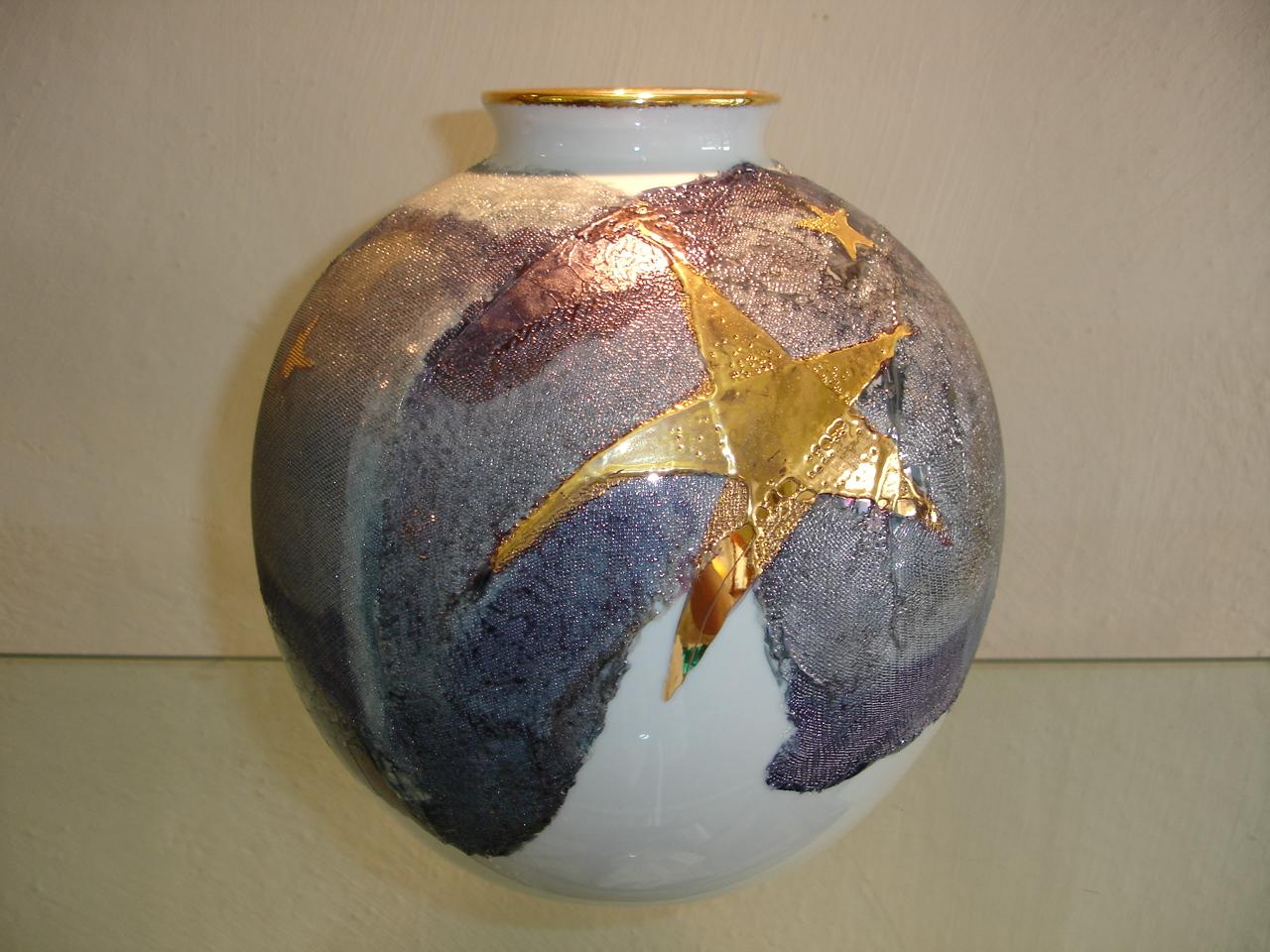 vase boule fibre de verre